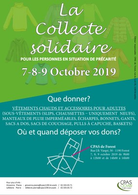 collecte solidaire 2019