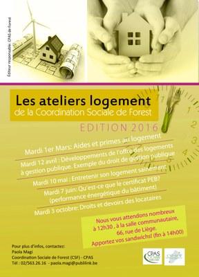 Ateliers logements - édition 2016